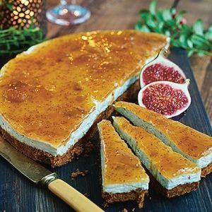 Ädelostcheesecake på pepparkaksbotten Foto: Coop