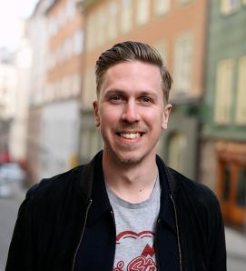Eric Olausson på JMWGolin PR-byrå i Stockholm