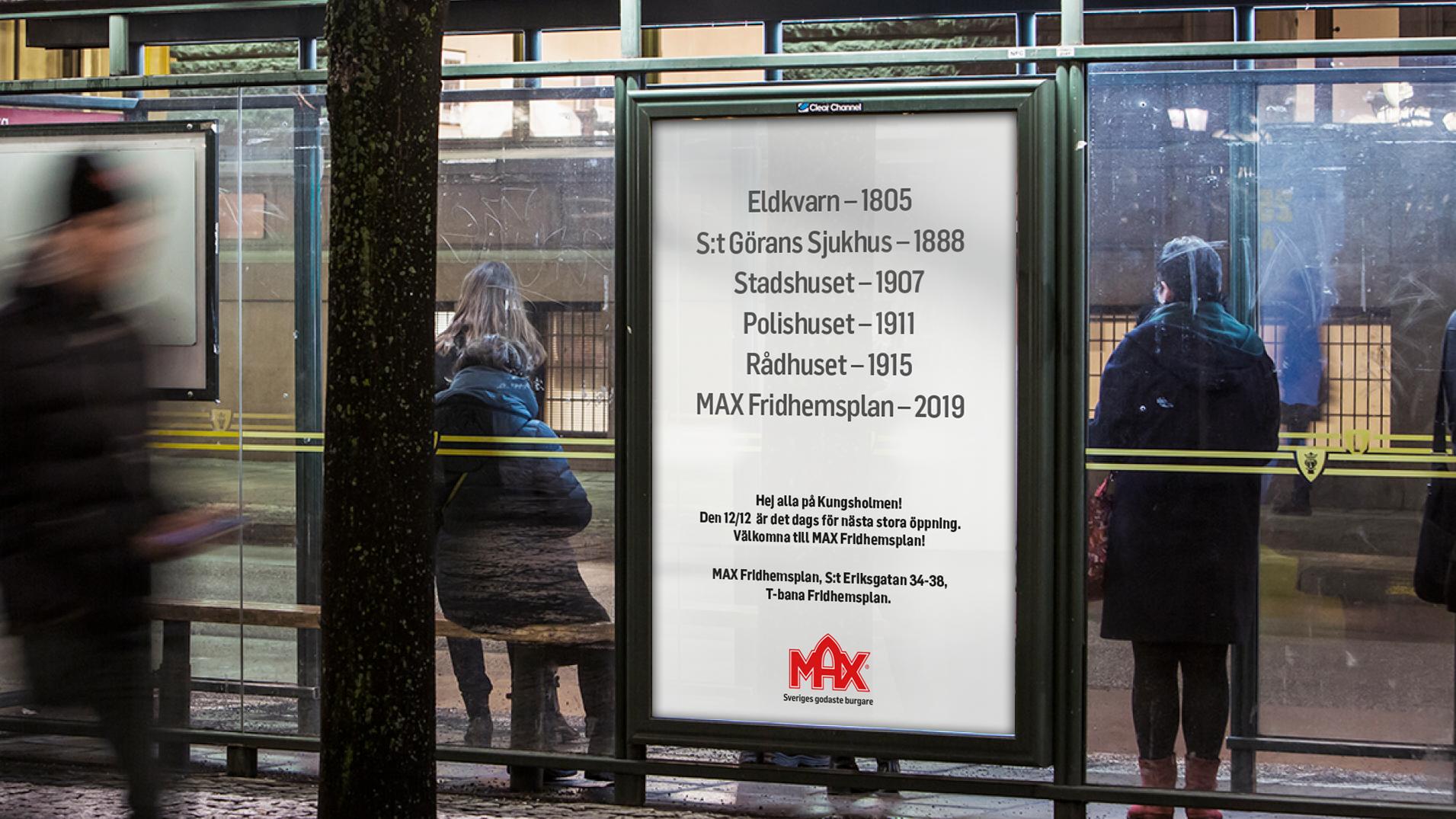 MAX Burgers hyllar Kungsholmen