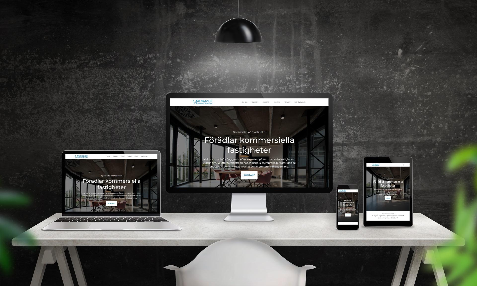 Malmqvist byggnads: digital närvaro