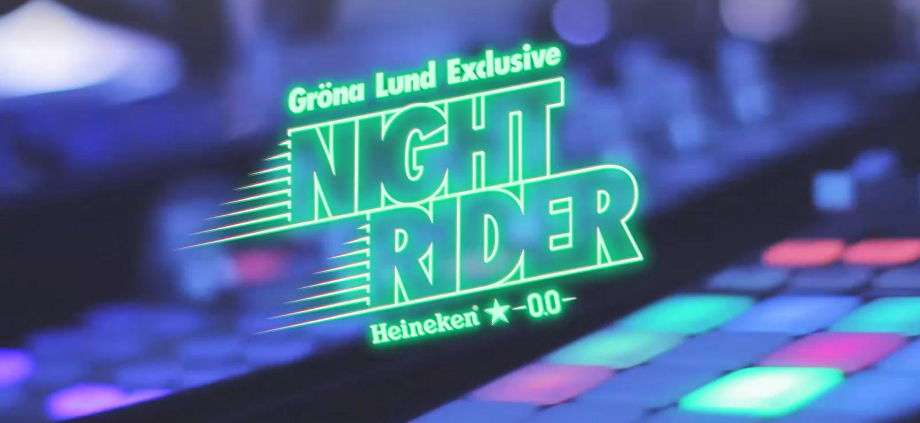 Night Rider med Heineken på Grönan